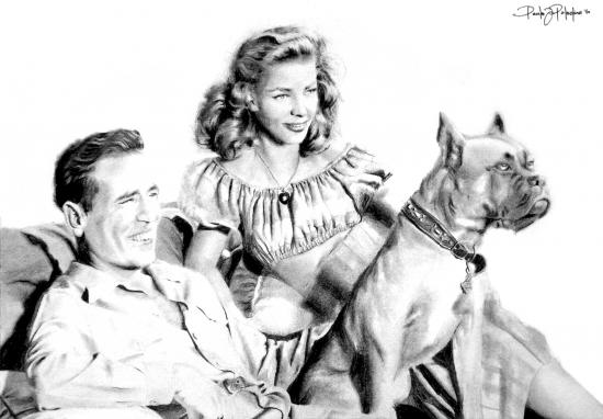 Humphrey Bogart, Lauren Bacall por Paladino